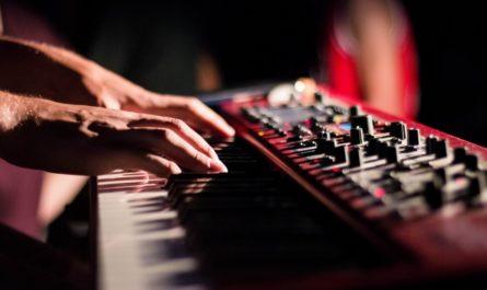 Michal David právě hraje na svoje oblíbené klávesy.