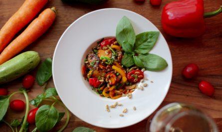 Takhle vypadá naservírovaný talíř podle vegetariánství.